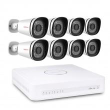 Complete Foscam FN3108XE-B8-2T 8-Camera HD Video Bewakingsset