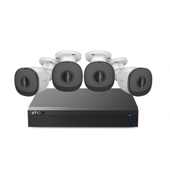 Imou Bullet PoE KIT, set bestaande uit 4 PoE bulletcamera's en 1 NVR