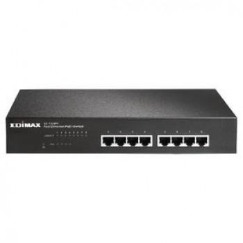 Edimax ES-1008PH Netwerk Switch 10/100 Mbit 8 Poorten + PoE