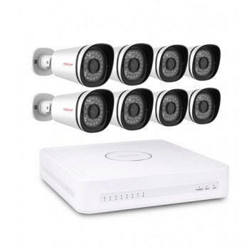 Foscam FN7108E-B4-2T NVR-Kit 8 (FI9900E) Camera 1080P HD Video Bewakingssysteem