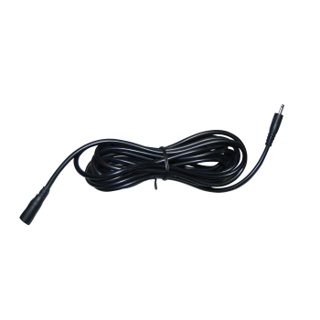 Voeding verlengkabel 1.5 meter zwart (stekker 3.5 x 1.35mm)