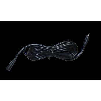 Voeding verlengkabel 3 meter zwart (stekker 3.5 x 1.35mm)