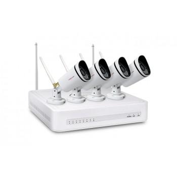 Foscam FN3104W-B4 720P 4-Kanaals Draadloos NVR Videobewaking Systeem
